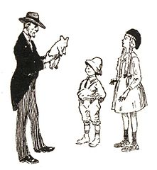 miś zostaje podarowany dzieciom