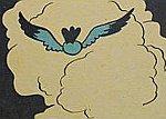 ptak ucieka w chmury