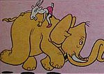 Matołek na słoniu
