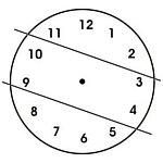 linie na tarczy zegarowej - rozwiązanie do łamigłówki