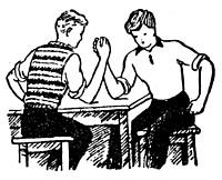 zabawa dla dzieci siłowanie na rękę