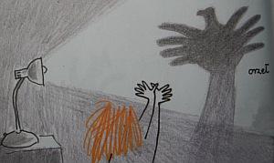 zabawa dla dzieci w cień - orzeł
